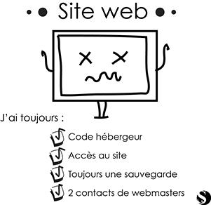 Avoir vos codes d'accès et back-up de site web
