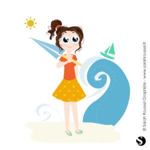 illustration pour mailing de vacances