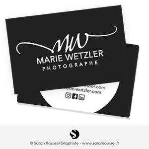 Carte de visite pour photographe professionnel