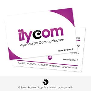 Carte de visite pour agence de communicaion