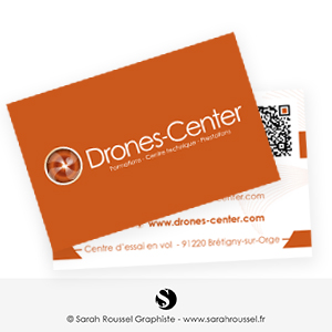 Carte de visite pour centre de formation au drone
