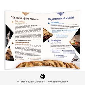 Plaquette commerciale pour boulangerie