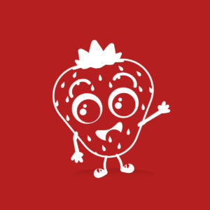 Logo fraise agence garde enfants