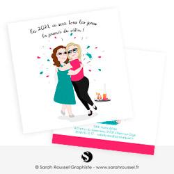 Illustrations pour carte de vœux