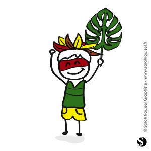Illustration Pikoto fait son Koh Lanta
