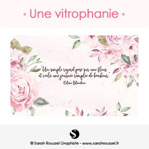 Vitrophanie intérieure