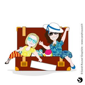 Illustration départ en vacances