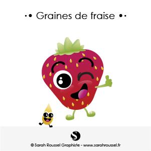 Illustration Graines de fraise